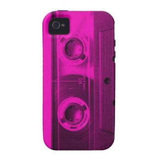 Eighties Love. Hot pink retro cassette tape. iPhone 4/4S Case