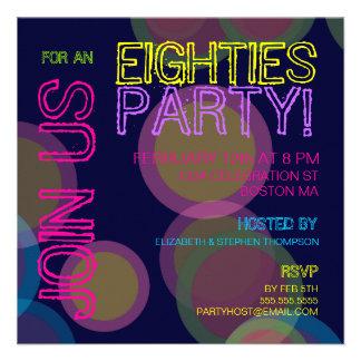 Eighties Party Invitation