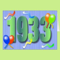 Eightieth Birthday 1933 Card