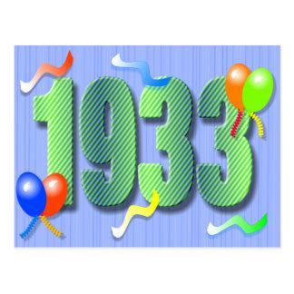 Eightieth Birthday 1933 Postcard