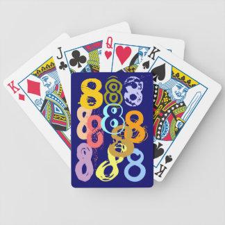 Eights loco ocho naipes del regalo del juego de di