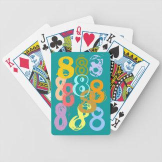 Eights loco ocho naipes del regalo del juego de di barajas de cartas