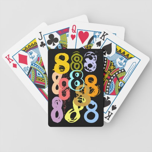 Eights loco ocho naipes del regalo del juego de di baraja cartas de poker