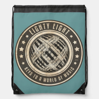 Eighty Eight Keys Drawstring Bag