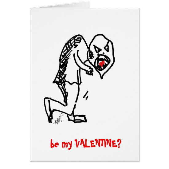 Eigor eating heart - alternative valentine card