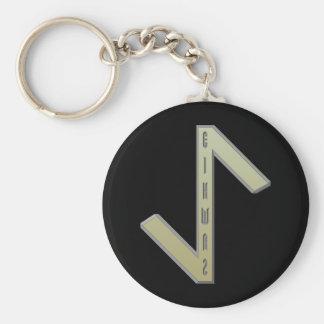 Eihwaz Rune gold Keychain