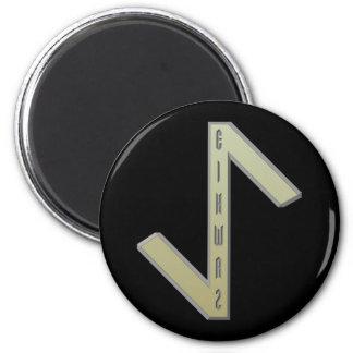 Eihwaz Rune gold Magnet