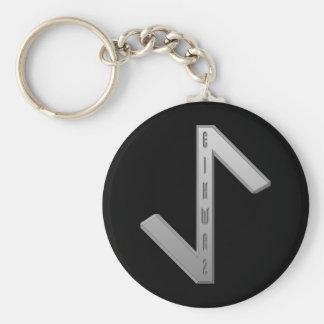 Eihwaz Rune grey Keychain