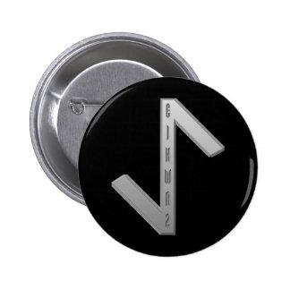 Eihwaz Rune grey Pinback Button