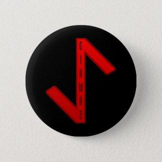 Eihwaz Rune red Button