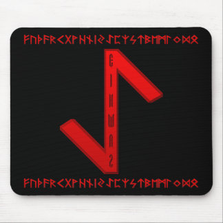 Eihwaz Rune red Mouse Pad