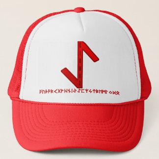 Eihwaz Rune red Trucker Hat