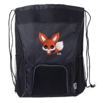 Eiichi the fox drawstring backpack