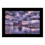Eilean Donan Castle at Sunset (Bordered) Poster