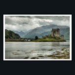 "Eilean Donan Castle Photo Print<br><div class=""desc"">An oft-photographed Scottish treasure - the Eilean Donan Castle - home of the Clan Macrea, taken on a typically cloudy and overcast Scottish day in Loch Duich- we had not time to stop and admire, as we had to be at the other end of Sky to catch a boat later...</div>"