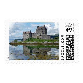 Eilean Donan Castle Scotland Ocean Stamp
