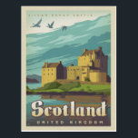 """Eilean Donan Castle - Scotland Postcard<br><div class=""""desc"""">Anderson Design Group is an award-winning illustration and design firm in Nashville,  Tennessee. Founder Joel Anderson directs a team of talented artists to create original poster art that looks like classic vintage advertising prints from the 1920s to the 1960s.</div>"""