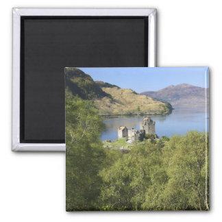 Eilean Donan Castle, Scotland. The famous Eilean 2 Inch Square Magnet