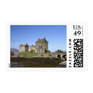 Eilean Donan Castle, Scotland. The famous Eilean 3 Postage Stamp