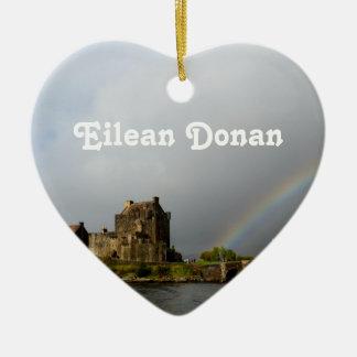Eilean Donan Adorno De Cerámica En Forma De Corazón