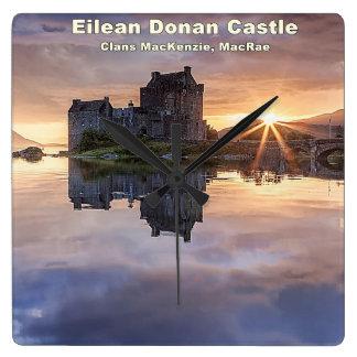 Eilean Donan – MacKenzie/MacRae Square Wall Clock
