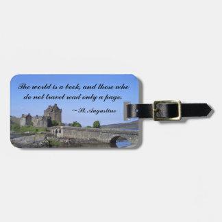 Eilean Donan Scottish Castle Luggage Tag
