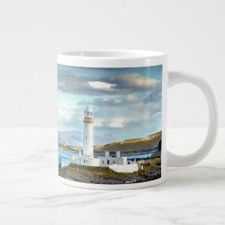 Eilean Musdile Lighthouse Scotland Scenic View Large Coffee Mug