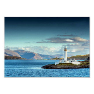 Eilean Musdile Lighthouse Scotland Scenic View Poster
