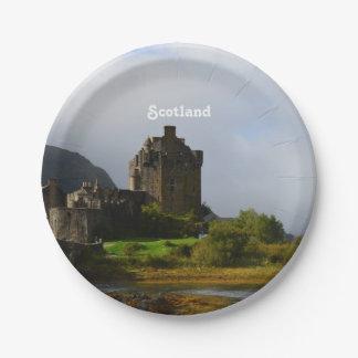 Eileen Donan Castle in Early Autumn Paper Plate