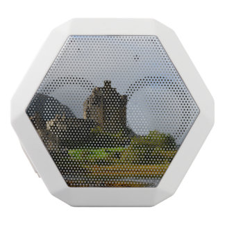 Eileen Donan Castle in Early Autumn White Bluetooth Speaker