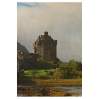 Eileen Donan Castle in Early Autumn Wood Poster