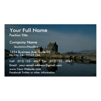 Eileen Donan Castle, Kyle of Lochalsh, Scotland Double-Sided Standard Business Cards (Pack Of 100)