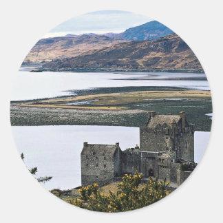Eileen Donan Castle, Loch Duich, Scotland Round Sticker