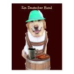 Ein Deutscher Hund Postal