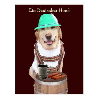 Ein Deutscher Hund Post Card