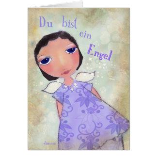 ein Engel (usted de du bist es un ángel) en alemán Tarjeta