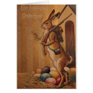 ¡Ein Frohliches Osterfest!  Alemán Pascua del vint Felicitaciones