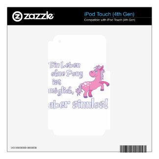 ein leben ohne pony ist möglich aber sinnlos decal for iPod touch 4G