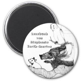 Ein Magnet für mein Lesebuch Imán Redondo 5 Cm