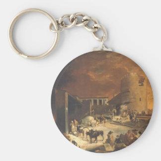 Ein Römischer Kalkofen by Sebastien Bourdon Basic Round Button Keychain