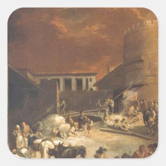 Ein Römischer Kalkofen by Sebastien Bourdon Square Sticker