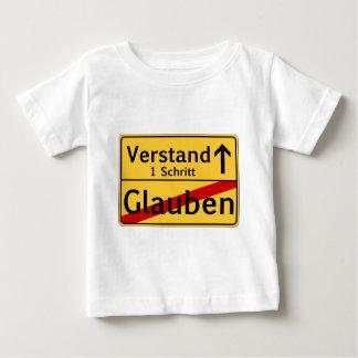 Ein Schritt vom Glauben zum Vestand Baby T-Shirt