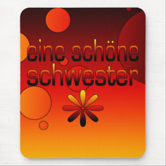 Eine Schöne Schwester Germany Flag Colors Pop Art Mouse Pad