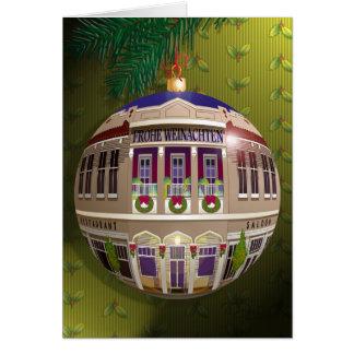 Eine Zierde Frohe Weihnachten-Olivgrün Card