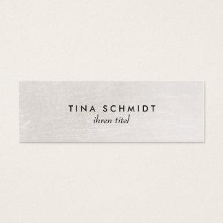 Einfache elegante Imitat Shimmery Weiße Mini Business Card