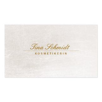 Einfache elegante Kosmetik Salon Spa Visitenkarte Business Card