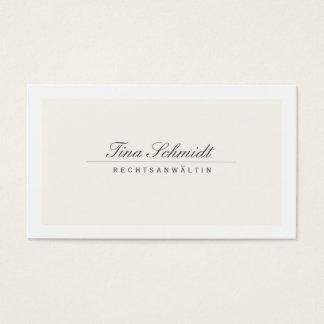 Einfache Elegante Rechtsanwalt Creme Visitenkarte Business Card