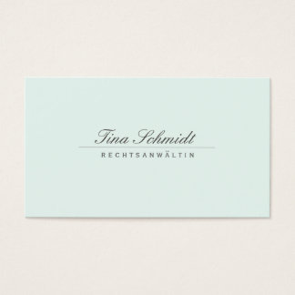 Einfache Elegante Rechtsanwalt Weiß Visitenkarte Business Card