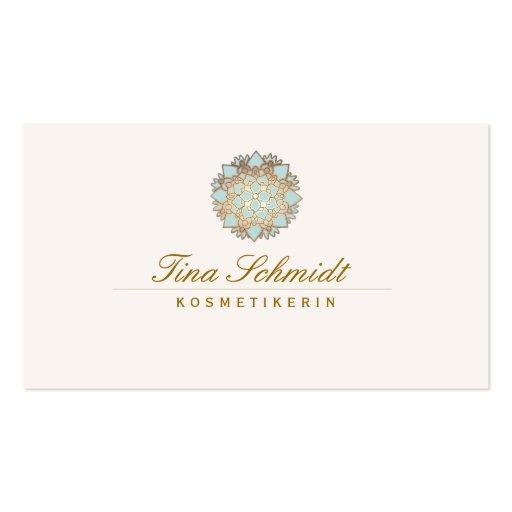 Einfache EleganteBlue Lotus Blume Business Cards