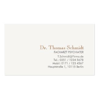 Einfache und elegante berufliche Psychiater Business Cards
